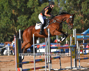 """Jenna Cole Prince rode """"Azkaban"""" placed 8th in the B Grade representing Midland Zone"""