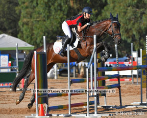 """Eliza-Jayne Sinclair rode """"Chatswood Verdasco"""" placed 4th in the B Grade Championship representing Southern Metro Zone"""