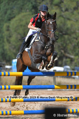 """Kaitlin Adamson rode """"Towering Blackadin"""" in the A Grade Championship representing  Southern Metro Zone"""