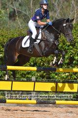 """Tori Glass riding """"Connie"""" in the A Grade Championship representing North Eastern Zone"""