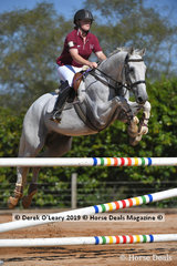 """Grace Smith riding """"Magical Connection""""  in the A Grade Championships representing North Eastern Zone"""