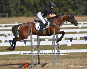 """2nd Place in the 2 phase C Grade Championship went to Leilani Justice ridng """"Miss Amity"""""""