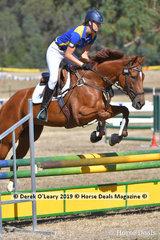 "Rosie Brocksopp rode ""Seniora Rapida"" placed 5th in the 2 Phase C Grade Championships representing Northern Metro Zone"