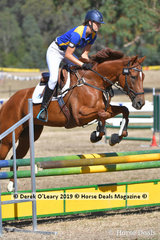 "Rosie Brocksopp rode ""Seniora Rapida"" placed 5th in the 2 Phase C Grade Championships representing Northern Metro Zone"