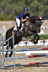 """Molly Lines rode """"CF Tadpole"""" placed 9th in the 2 phase C Grade Championship representing North Eastern Zone"""