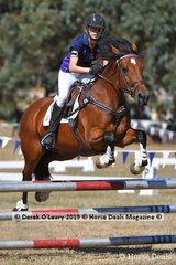 "Johanna Harris-Draper rode ""Evie"" in the C Grade Championships"