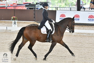 Rosanna Relton rode her, 'Four Winds Bombadier' to second place in the Do Well/Lennock /Animal Art House CDI U25 Freestyle with 69.60%.