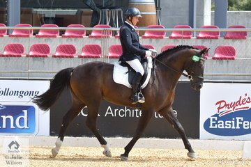 Jeffrey Archer rode his Jaybee Excellent stallion, 'Baby Blue' to fifth place in Round 2 of the 6 Year Old Young Dressage Horse class.