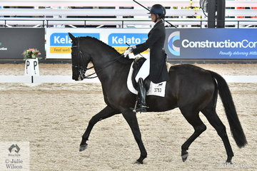 Popular NSW rider, Susan Elekessy rode her 'Don Rubin' by Don Frederick to win the Grand Prix Freestyle CDN on the last day of Competition at the 2019 Dressage By The Sea CDI4* at Willinga Park.
