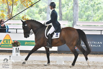 Alicia Targa rode Jane Bruce's, 'CP Dresden' by Damsey to take fifth place in the Willinga Park Grand Prix Freestyle CDI4* with 71.58%.