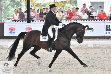 Popular horseman, Dirk Dijkstra is giving, 'AEA Metallic' every opportunity to extend during their CDI 4* Grand Prix Freestyle test. They took fourth place with 71.85%.
