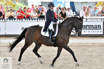 International dressage rider, Sue Hearn rode her Rio mount, 'Remington' by Riverdance to take third place in the Willinga Park CDI4* Grand Prix Freestyle with 72.72%.