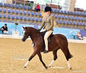 "Emma Adams riding ""Anjara Park Euphoria"" finished in the Top 10 Medium Hunter Pony Championship."