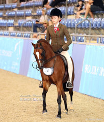 """Alexandra Berle rode """"Bellgarra Timden"""" to a 3rd placing in the Medium Hunter Pony of the Year Championship."""