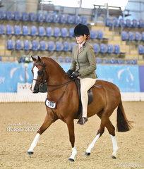 """Emma Adams rode """"Mirinda Foxtrot"""" to win Runner Up Medium Hunter Pony of the Year."""