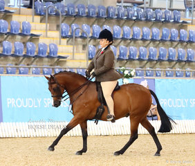 Krystle McInnes rode @Astral Royal Performance@ to a Top 10 placing in the Large Hunter Pony of the Year event.