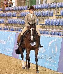 """Kelly Hull rode """"KL Embers"""" to a Top 10 placing in the Large Hunter Galloway of the Year Championship."""