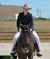 It was all smiles for Yazmin Wallis after she and Tallowood Mirabella completed a beautiful test in the Hack Pattern at the 2019 Australian Stock Horse National Show in Tamworth, NSW.