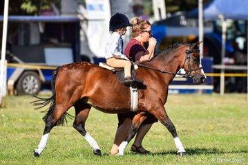 Harry Armistead Riemer 3yo aboard Woranora Napoleon 20yo were successful in the children's ring