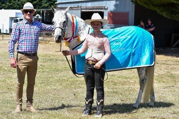 Judge Daniel Taylor with his supreme led spotted pony
