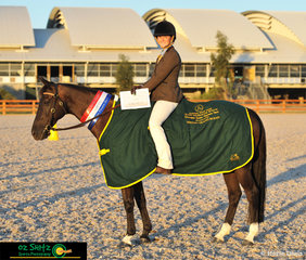 Winners are grinners - Champion Senior Pleasure Hack on day five of the Australian Stock Horse National Show was Courtney Bowd and her beautiful Stock Horse 'Silverthorn Goodwill'.