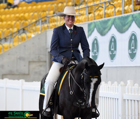 All smiles this morning - Melanie Welsh ridng Willingapark Phoenix Soda rode a beautiful workout in the Hack Phase of the Snaffle Bit Futurity at the 2019 Australian Stock Horse National Show.