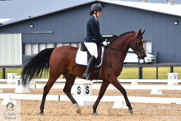 Aleesha Cambell 's Jullyen's Jive Talk HF placed fourth in the Equine Eazy Az Arabian Preliminary Test 1B.