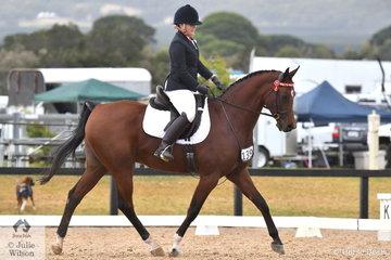 Adelle Mahoney rode Nerida Morrish's, Aces Wild to win the Equine Eazy Az Arabian Preliminary 1B.