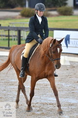 Helen Louise Spencer rode her Avandale Celeste to fourth place in the Mulawa Arabian Stud's Novice 2B.