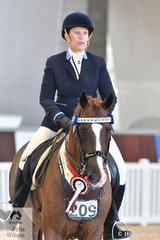 Sandra Gebbie and Mandy Lewis', Miva Just Too Classy was declared Champion, Ridden Arabian Stockhorse.