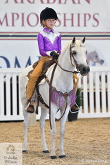 Nadine Holland and Allawah Park Miss Pollyanna won on the applause meter during the judging of the Western Pleasure.