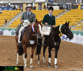 It was a great day for the Playmore Stock Horse Team today with both Champion and Reserve Champion Working Gelding taken out with both horses bred by them - Glenn Frazer with Playmore Roulette (Champion) and Tom Wilson with Playmore Rock N Roll
