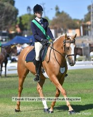 Sarah Hilet rode APH Medallion in the 17 & Under 21 Rider Class representing Bamawm
