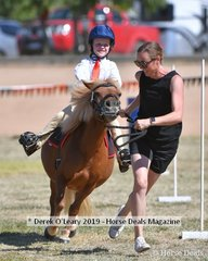 Charlotte Landells looked to be having a ball in the 8yo and Under Led Games representing Mandurang South riding Honey