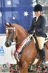 Lisa Tomlinson's, 'Oakley Manor Xaphan' (Fairlight Acres Kristian/Jayay Just Because) was declared Gold Champion Half Arabian Ridden Champion.