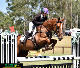 Competing at the 2019 Interschool National Championships in the Two Star Eventing is Charlotte Lalak with the ride on Finch Farm Nelson.