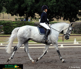 At the NSW Interschool State Championships, Tara Seppelt and Rotherfield Aviator completed a very impressive test in the dressage phase of the EvA80 Eventing.