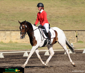 Strutting their stuff in the dressage phase of class EvA95 Eventing on day one of the NSW Interschool State Championships is Meeandah C G and Broughton Anglican College student, Sophie Giannetta.