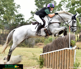 Charlotte Lalk and Topper ll exit the Two Star water complex with ease at the 2019 NSW Interschool National Championships.