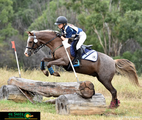 Excelling over the 60cm cross country course is Jazz Kennett with Mantova Louis at the 2019 NSW Interschool State Championships.