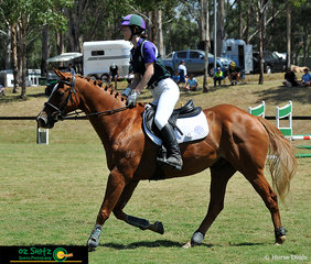 At his third outing, Diamondsahoy and Gianni Meyers jump a clear round in the EvA80 Eventing Show Jumping at the NSW Interschool State Championships.