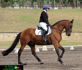 In the EvfA95 Eventing, Frensham Girls Secondary School student, Amy Thompson and her horse Mumbo Jumbo, executed a great dressage test on day one of the NSW Interschool State Championships.