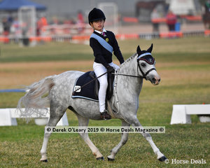 "Keeley Keet rode ""Elargee Triple Elegance"" in the Grade 5 Dressage representing Mount Duneed."