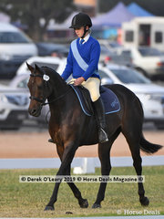 "Shae Kristiansen rode ""Ellangwan Toy Story"" in the Grade 4 Dressage, her team ""Hot To Trot"""