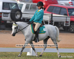 """Tamsyn Harvey from Riddells Creek rode """"Just A Wish"""" in the Grade 4 dressage, her team """"A Little Bit of Chaos"""""""