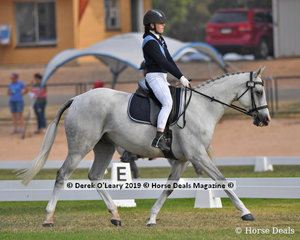 """Matilda Bremner rode """"A Rizing Star"""" in the Grade 3 Dressage representing Mount Duneed"""