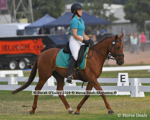"Lauren Dunn rode ""Granjira"" in the Grade 3 Dressage representing Riddells Creek"