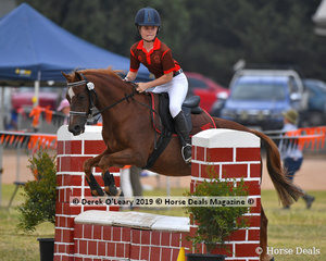 "Ava Bibby rode ""Posh"" in the E Grade Showjumping her team ""MSPC Fillies"""