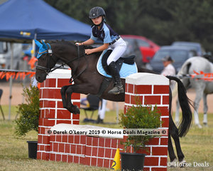 "Connor Knight rode ""Go Pro"" in the E Grade Showjumping representing his team ""Hot To Trot"" for Neanger Park Pony Club"