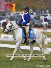 "Jasmine Rollinson rode ""Darcy"" in the Grade 5 Dressage representing Donald Pony Club"